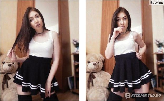 Юбка AliExpress Women skirts midi Pleated black sexy Striped mini short school skirts for girls saia feminina фото