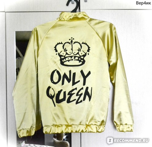 Бомбер AliExpress Harajuku Autumn Women Bomber jacket Women Coat Crown Queen Print Long Sleeve Zipper Top Coat Biker Casual Short Outwear фото