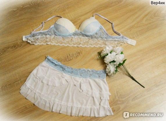 Эротическое белье Aliexpress Women's Sexy Underwear, Sleep Dress, Sheer Lace Transparent Sleeveless Underwear, Underwear Set with Bra фото