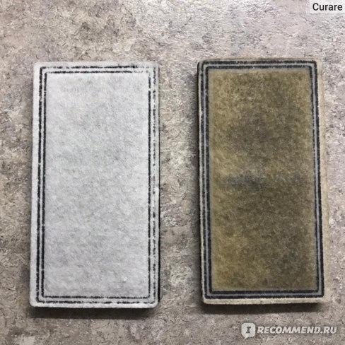 Сравнение фильтров к поилке: новый и спустя месяц использования