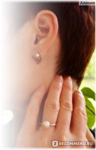 Кольцо Ювелирный завод Диамант из серебра 925 пробы с покрытием золото 93010398 вес 1,76 фото