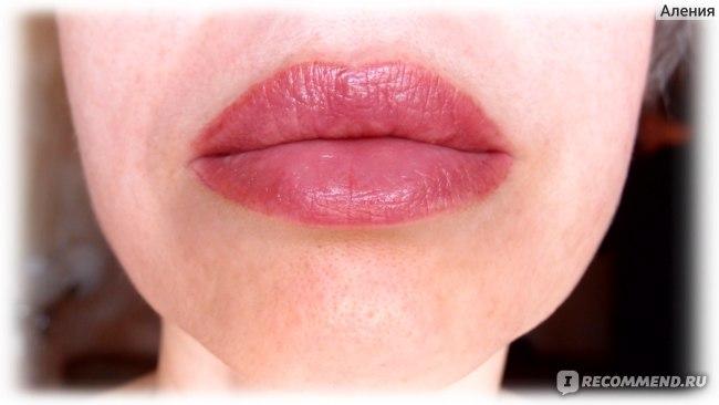 Перманентный макияж губ, губы через месяц после корркции