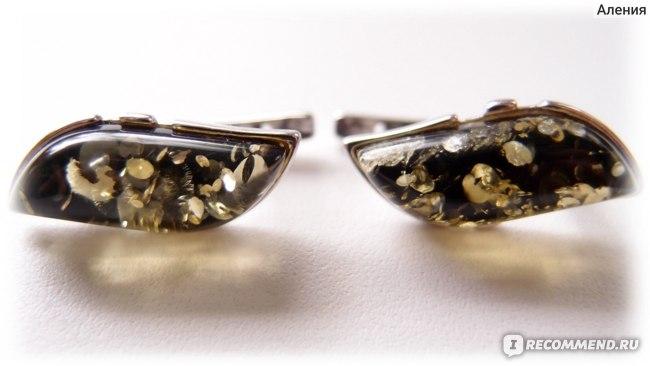 Серьги Сувениры Балтики из серебра 925 пробы 912242 с янтарем фото