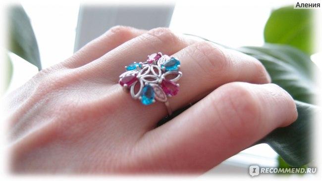Кольцо серебряное Фабрика Приволжский Ювелир 251399 - алпанит, корунд, фианит фото