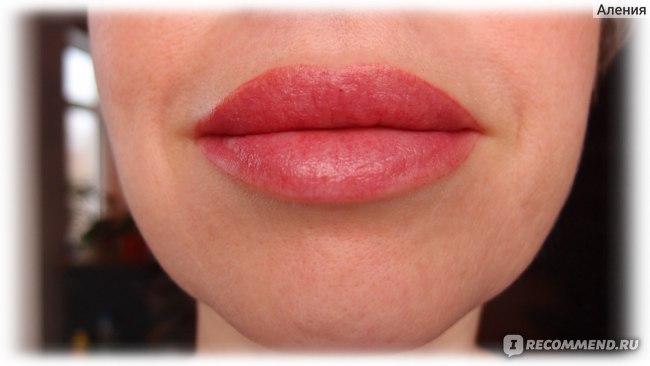 Перманентный макияж губ - губы на 2-ой день