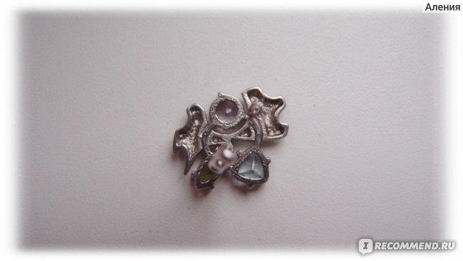 Серьги Инталия Серебро 925 Микс 5,50 карат арт. 2664 фото