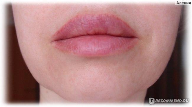 Перманентный макияж губ, губы ДО коррекции