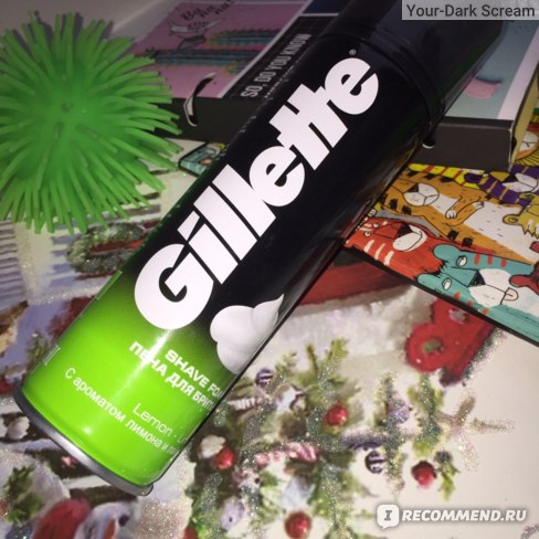 Пена для бритья Gillette Lemon Lime фото