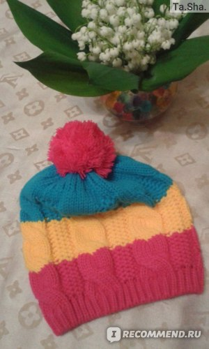 Шапка детская AliExpress A96 Free Shipping New Cute Colors Baby Child Kid Girl Boy Stretchy Winter Warm Ball Hat Cap Beanie фото