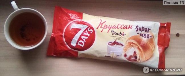 Круассан 7days Double с  двойным кремом: «какао» и с кремом со вкусом «ваниль» фото