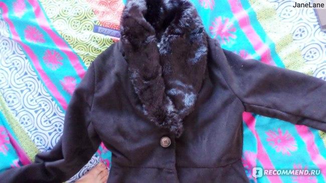 Пальто AliExpress New Fashion Women's Slim Trendy Fur Collar Warm Wool Coat Jacke фото