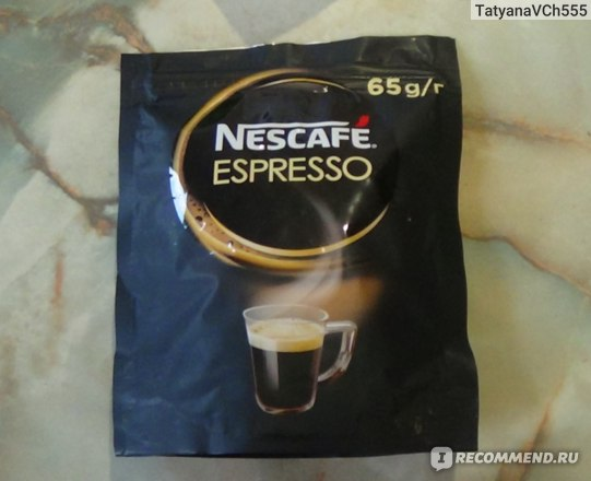 Кофе Nescafe  Espresso в мягкой упаковке фото