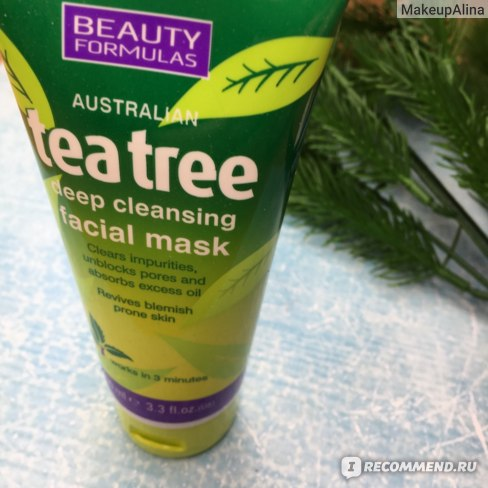 Маска для лица Beauty Formulas Tea Tree Deep Cleansing Facial Mask фото