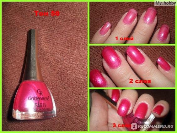 Лак для ногтей Golden Rose Paris фото