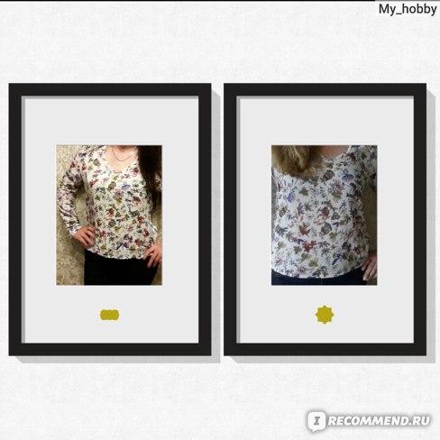 Блузка AliExpress New Fashion Ladies' Elegant vintage floral print blouses фото