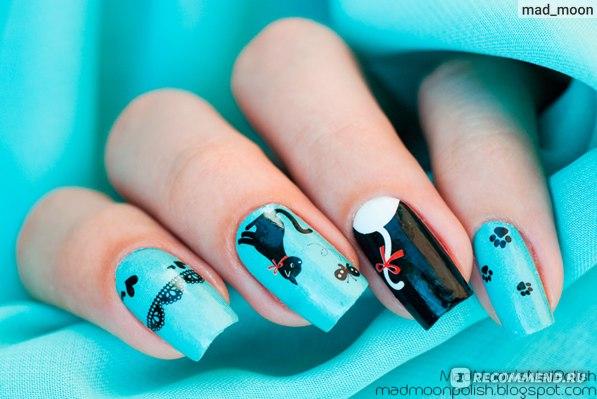 Наклейки для ногтей BornPrettyStore 14Pcs Full Nail Art Sticker Hot-sell Cute Bear Cat Snowflake Patterned фото