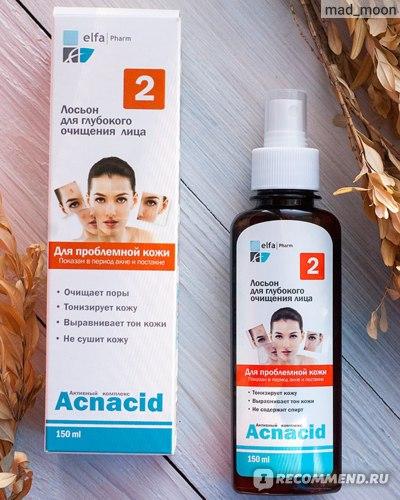 Лосьон для лица ЭЛЬФА Acnacid для глубокого очищения лица для проблемной кожи фото