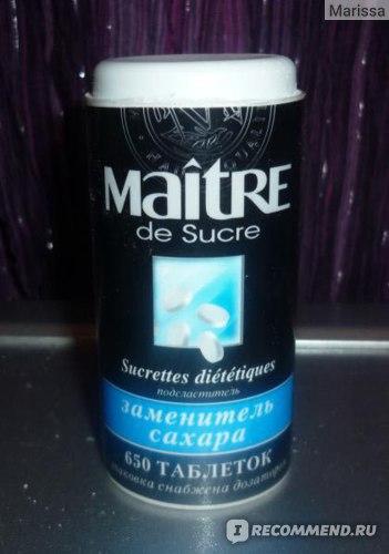 Сахарозаменитель Maitre de Sucre фото