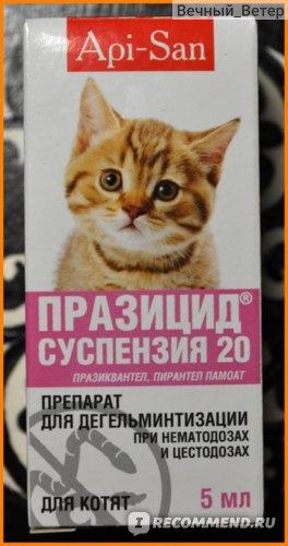 Антигельминтики Апи-Сан Празицид-суспензия сладкая для котят фото