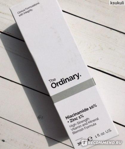 Сыворотка для лица The Ordinary Niacinamide 10% + Zinc 1%