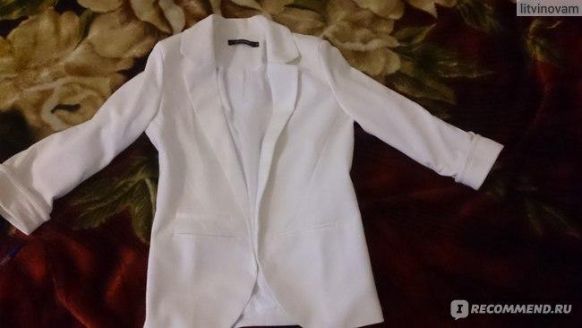 Пиджак AliExpress Candy color three quarter sleeve blazer roll sleeve no button blazer formal slim фото