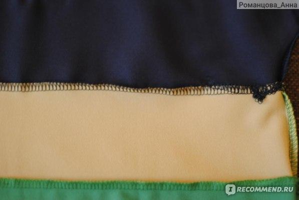 Топ AliExpress 2013 spring and summer women's linen yarn loose stitching short-sleeved t-shirt chiffon shirt blouse Hot Large sizeXL XXL XXXL фото