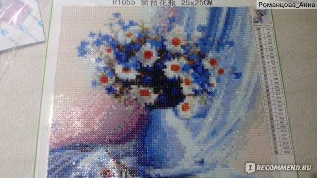 Алмазная мозаика Aliexpress Diy Diamond painting blue white dasies 30*30cm diamond decorative resinstone square diamond painting sets unfinish decorative фото