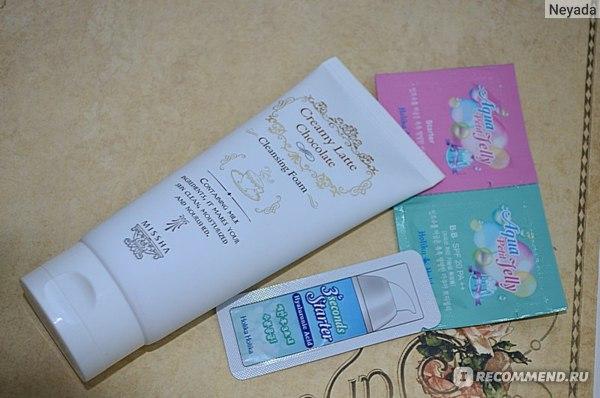 "Пенка для умывания Missha Очищающая для лица ""Creamy Latte Chocolate Cleansing Foam"" фото"