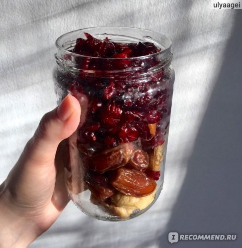 Финики, инжир и сушенная клюква