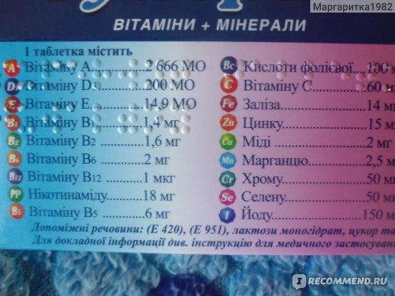 Витаминно-минеральный комплекс Киевский витаминный завод Супервит фото