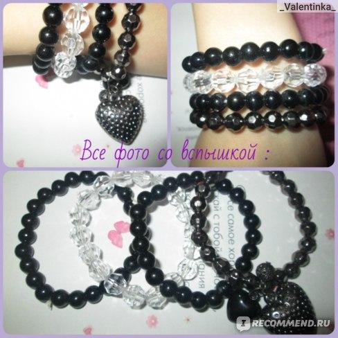 Браслет Buyincoins Fashion Lady Cute Nice Charm Multiple Bead Bow Knot Heart Bangle Bracelet Chain фото
