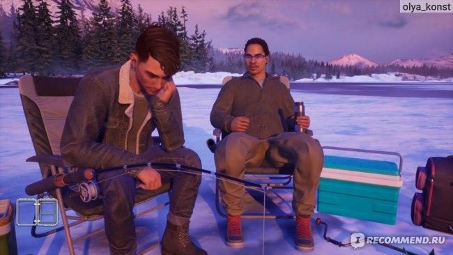 На совместной рыбалке
