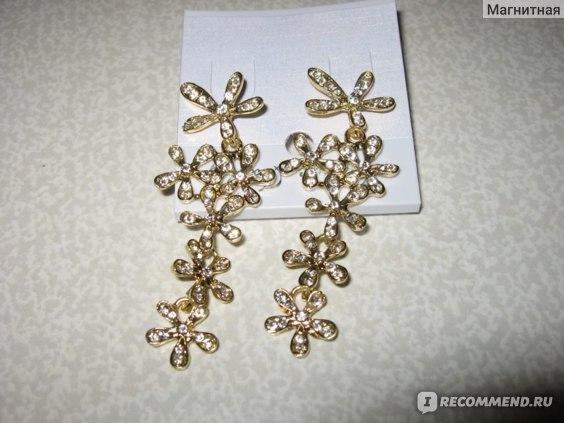 Серьги Aliexpress Drop Shipping 2013 new jewelry fashion gold flower full rhinestone ultra long earrings crystal for women female TPP-6.99 фото