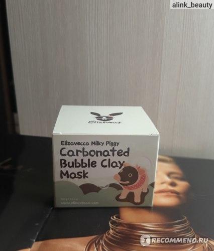 Маска для лица Elizavecca Milky Piggy Carbonated Bubble Clay Mask фото