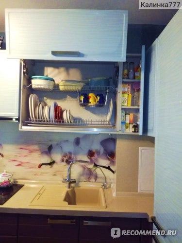 Решетки для посуды в сушке и шкафчик - аптечка.