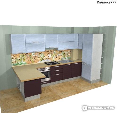 Дизайнерский проект нашей кухни. Правый угол.