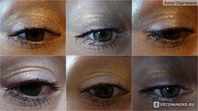 макияж с тремя оттенками - 01, 41 и 43 - искусственное освещение