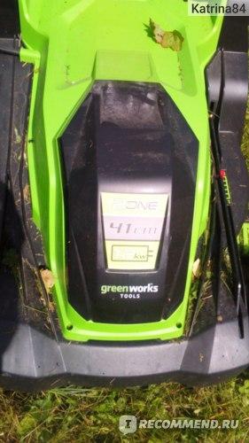 Газонокосилка электрическая Greenworks GLM1241 фото