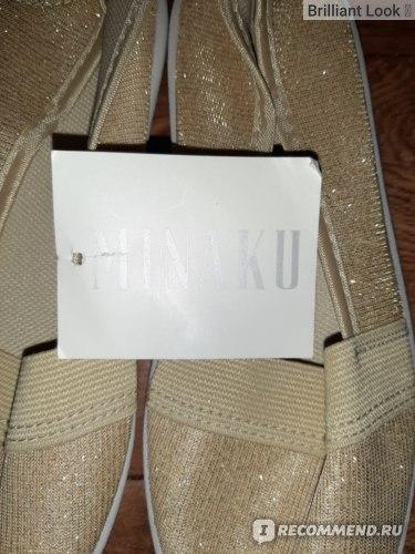 Кеды Minaku Артикул 3969136 золото фото