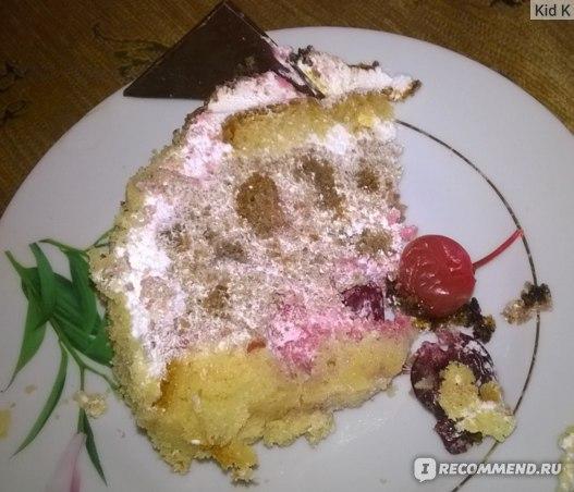 """Бисквитный торт Кондитерская студия MarSo город Н.Новгород. Торт""""Зимняя вишня"""" фото"""