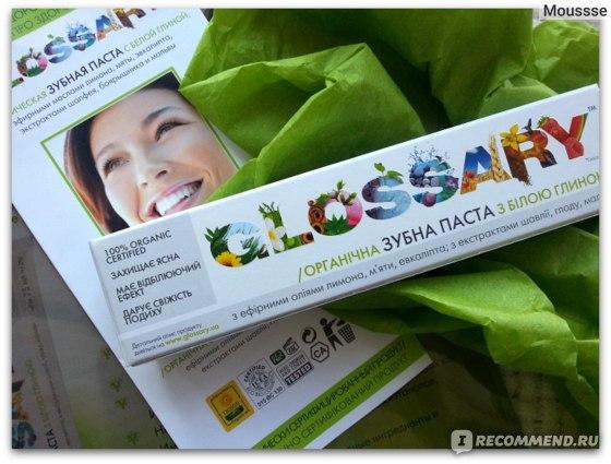 Зубная паста Glossary органическая с белой глиной фото