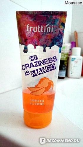 Гель для душа Fruttini My craziness is mango фото