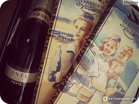 Набор шоколада Starbrook Airlines (2 плитки + игристое вино Asti) фото
