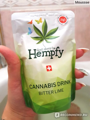Безалкогольный напиток Hempfy Cannabis Drink Bitter Lime фото