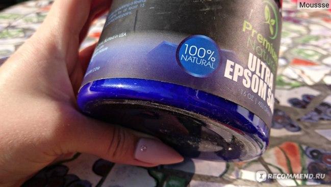 Соль для ванн Premium Nature Ultra Epsom Salt фото