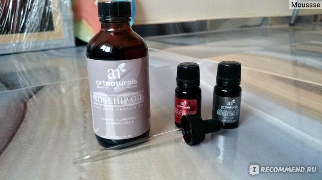 Набор масел ArtNaturals Artisan Oil Rosehip Oil 3 Piece Set с маслом шиповника фото