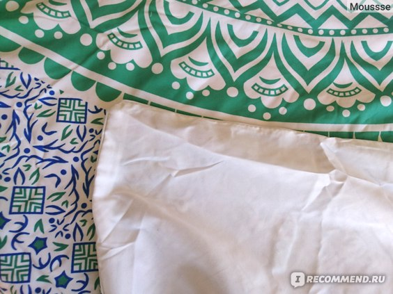 Комплект постельного белья Aliexpress BeddingOutlet Blue and Green Mandala Flower Duvet Cover Set With Pillowcase Bohemia Bedding Set Soft Fresh Quilt Cover Set 3Pcs фото