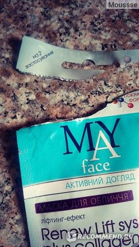 Маска для лица MY face Renew Lift system plus collagen фото