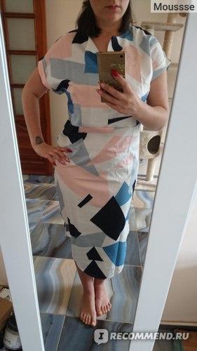 Платье AliExpress Summer Women Beach Dress Boho Print Batwing Short Sleeve Tunic Bandage Bodycon Dress Midi Sheath Party Dress Vestidos mujer фото