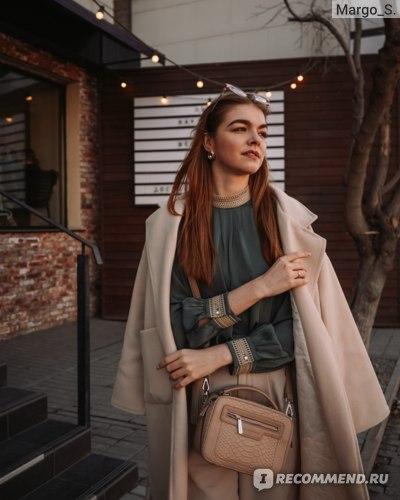 Блузка AliExpress Vimly Spring Lace Chiffon Blouse Women Fashion New Half Turtleneck Solid Long Sleeve Loose Shirts Elegant Female Tops F6380 фото